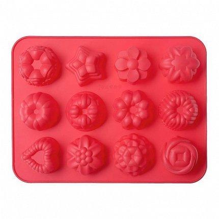 Форма для выпечки Bakery, 32.5х24.5х4 см, 12 кексов, красная W27322440 Walmer недорого