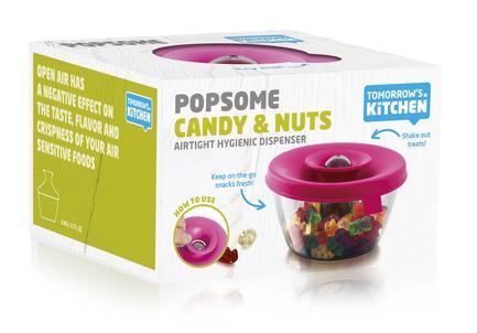 Емкость для хранения орехов и сладостей (0.45 л), розовый