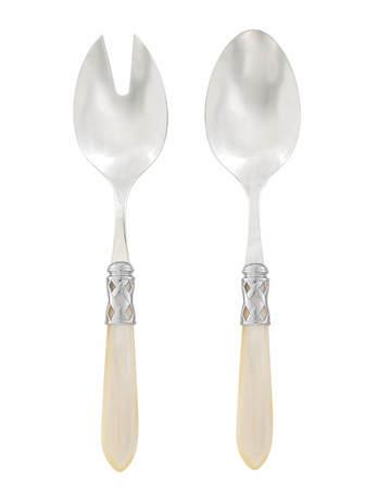 Набор приборов для салата Aladdin Brilliant Ivory, 2 пр. VT4103 Vietri набор для салата emsa vienna цвет белый 7 предметов