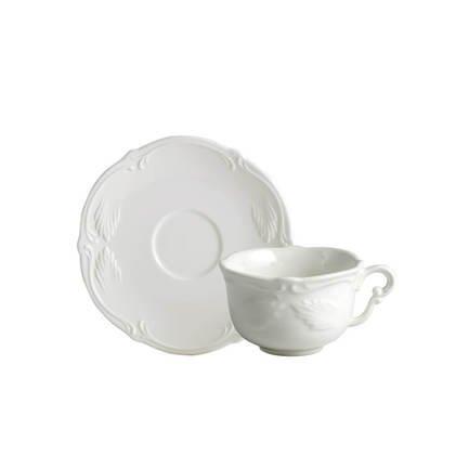 Чайная пара Rocaille Blanc (180 мл), белая GN1521 Gien