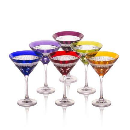 Набор бокалов для мартини (180 мл), 17.5 см, 6 шт. CDP2009 Cristal de Paris