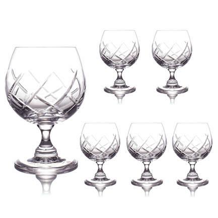 Набор бокалов для коньяка (350 мл), 12 см, 6 шт. CDP1705 Cristal de Paris