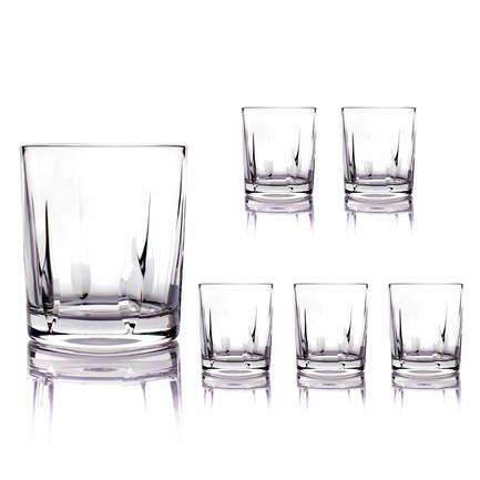 цена Набор стаканов для виски (250 мл), 9 см, 6 шт. CDP1904 Cristal de Paris онлайн в 2017 году