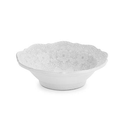 Чаша для супов Merletto White (0.8 л), 18 см, белая AI2203 Arte Italica