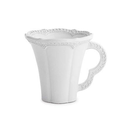 Кружка Merletto White (340 мл), белая AI2206 Arte Italica