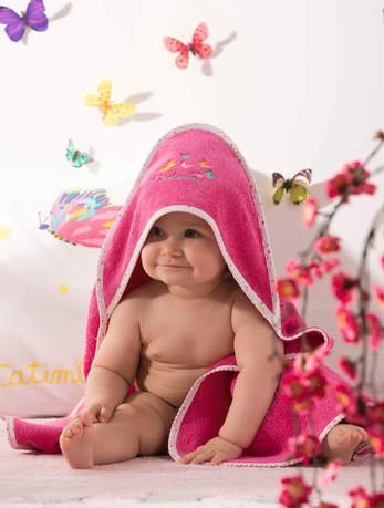 Полотенце-уголок, 75х80 см, розовое