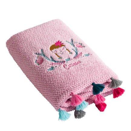 Полотенце, 70х130 см, розовое