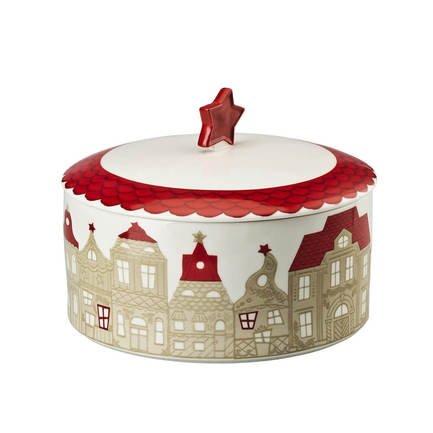 Емкость для хранения Little Christmas Town, 19 см HCR1909 Hutschenreuther hutschenreuther basic vasen weiß ваза 10 см