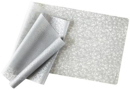 Скатерть силиконовая Silver Twine, 120х36 см, серебро
