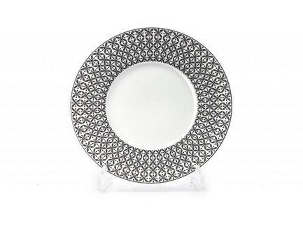 Тарелка Черный Ажур, 21 см 830123 2300 Tunisie Porcelaine