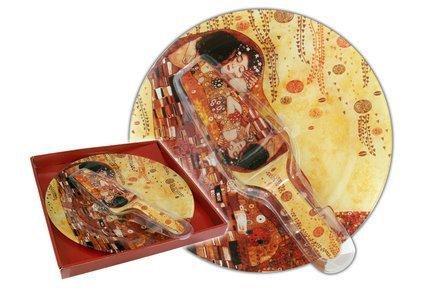 Тарелка для торта с лопаткой Поцелуй (Г. Климт), 30 см CAR198-1221-AL Carmani цена 2017