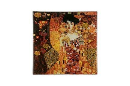 Тарелка квадратная Золотая Адель (Г. Климт), 13х13 см CAR198-1402-AL Carmani цена 2017
