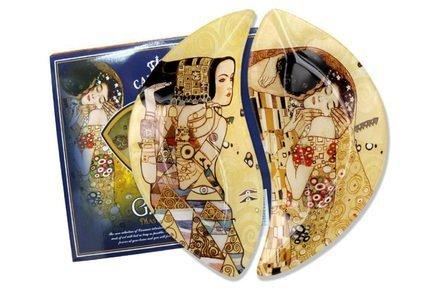 Набор тарелок Ожидание/Поцелуй (Г. Климт), 21.5х12 см, 2 шт. CAR198-7023-AL Carmani