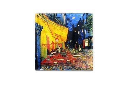 Тарелка квадратная Ночная терраса кафе (Ван Гог), 13х13 см CAR198-7309 Carmani