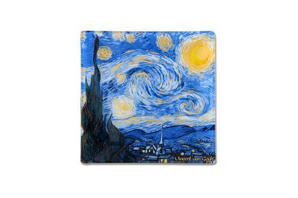 Тарелка квадратная Звездная ночь (Ван Гог), 13х13 см CAR198-7310 Carmani