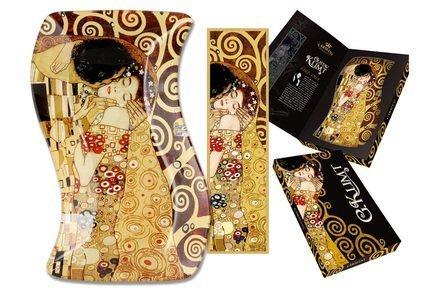 Тарелка фигурная Поцелуй (Г. Климт), 15х23 см