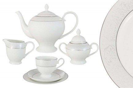 Чайный сервиз Мелисента на 6 персон, 21 пр. AL-14-310_21-E5 Anna Lafarg сервиз обеденный anna lafarg emily мелисента 27 предметов
