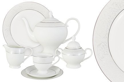 Чайный сервиз Мелисента на 12 персон, 40 пр. AL-14-310_40-E5 Anna Lafarg сервиз обеденный anna lafarg emily мелисента 27 предметов