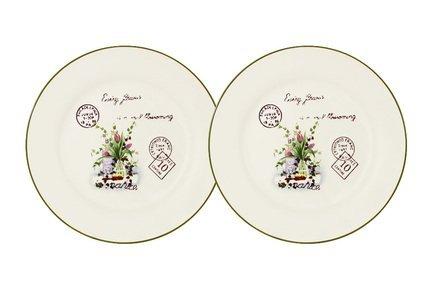 Набор десертных тарелок Букет, 20 см, 2 шт. AL-55E2258-3-B-LF Anna Lafarg набор 3 тарелок 20 18 2 см 25 22 2 5 см и 30 26 3 см