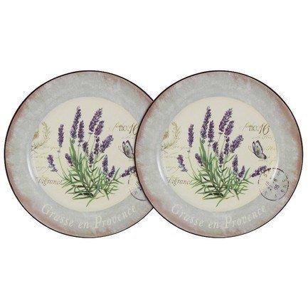 цена на Набор десертных тарелок Лаванда, 20 см, 2 шт. AL-55E2258-L-LF Anna Lafarg
