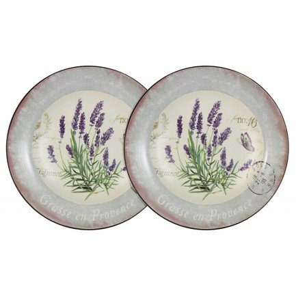 цена на Набор суповых тарелок Лаванда, 21 см, 2 шт. AL-80E2256-L-LF Anna Lafarg