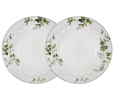 Набор суповых тарелок Веста, 23 см, 2 шт. AL-NBCP85-177-PW Anna Lafarg