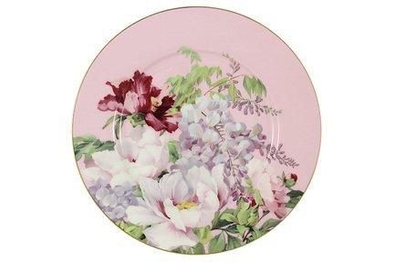 Тарелка десертная Райский сад, 19 см, розовая AL-17815F-PIN-P-ST Anna Lafarg