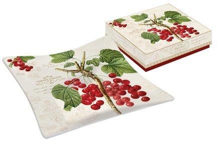 Тарелка квадратная Красная смородина, 13х13 см, в подарочной упаковке EL-0634_JADI Easy Life (R2S) ваза для фруктов nuova r2s красная смородина двухъярусная