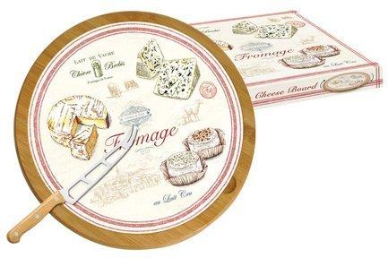 Блюдо для сыра Fromage, 32 см, вращающееся, с ножом, в подарочной упаковке EL-0888_FRMA Easy Life (R2S) блюдо для торта nuova r2s подарки вращающееся диаметр 32 см