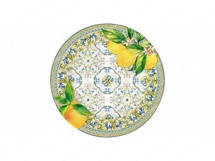 Тарелка закусочная Капри, 19 см, цитрус EL-R0944_CAPL Easy Life (R2S) тарелка закусочная парадайз 19 см el r1582 para easy life r2s