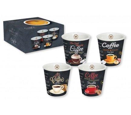 Набор чашек для эспрессо (80 мл), 4 шт R2S1016_ICTT-AL Easy Life (R2S) набор из 2 чашек для кофе 80 мл guzzini love 11490079