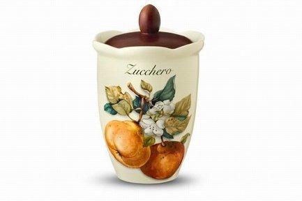Банка для хранения сахара Итальянские фрукты (0.8 л), 20 см NC7370_2-CEM-AL Nuova Cer заварочный чайник 1 0 л nuova cer тыква nc7360 odn al