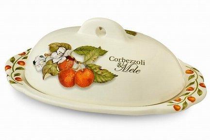 Маслёнка Итальянские фрукты, 22.5х15.5 см NC7378-CEM-AL Nuova Cer