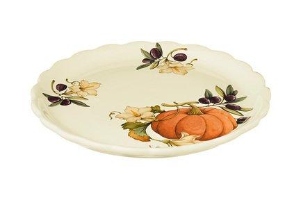 Тарелка обеденная Тыква, 26.5 см NC7410_2-ODN-AL Nuova Cer заварочный чайник 1 0 л nuova cer тыква nc7360 odn al