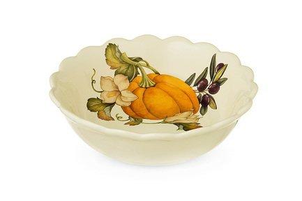 Тарелка суповая Тыква, 20.5 см NC7410_3-ODN-AL Nuova Cer заварочный чайник 1 0 л nuova cer тыква nc7360 odn al