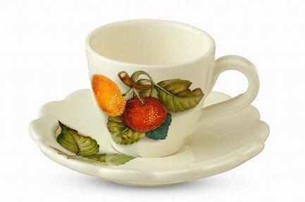 Чайная пара Итальянские фрукты (300 мл) NC7417-CEM-AL Nuova Cer