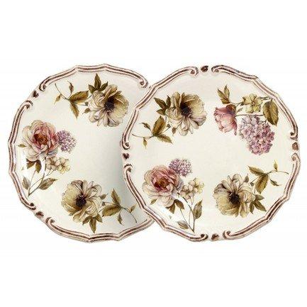 цена на Набор десертных тарелок Сады Флоренции, 20.5 см, 2 шт. LCS053PF-BO-AL LCS