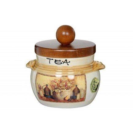 Банка для чая с деревянной крышкой Натюрморт (0.5 л) LCS670PLTV-AL LCS салатник lcs медичи lcs254 26 me al