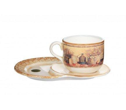 Чашка на маленьком подносе Натюрморт (500 мл) LCS933TP_NV-AL LCS салатник lcs медичи lcs254 26 me al