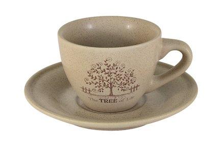 Чашка с блюдцем Дерево жизни (200 мл) TLY314S2-TL-AL Terracotta