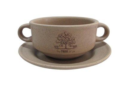Суповая чашка на блюдце Дерево жизни (0.3 л) TLY923-TL-AL Terracotta