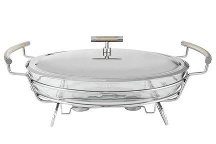 Блюдо с подогревом Перле, овальное, 44х26х20 см, с крышкой RE-370453 Regent