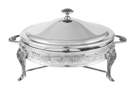 Блюдо с подогревом Британи, круглое, 35х29х20 см, с крышкой RE-372873.1 Regent