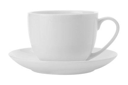 Чашка Кашемир (0.28 л) с блюдцем, белая