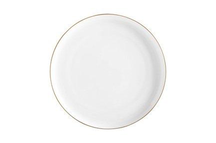 Тарелка закусочная Кашемир Голд, 20 см, белая