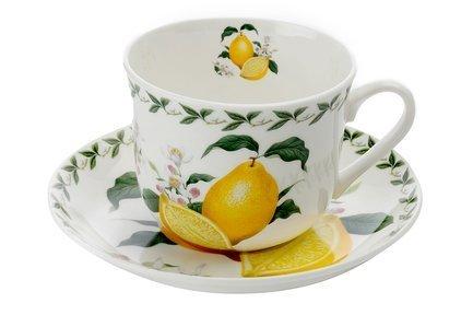 Чашка Лимон (0.48 л) с блюдцем