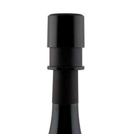 Пробка вакуумная для вина Basic, 9х2.5х18.3 см, черная, в блистере