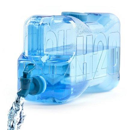 Бутылка для воды H2O (5.5 л), 36.4х13.6х19 см, голубая 25078 Balvi