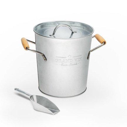 Ведро для льда и охлаждения вина Grand Vin, 19.5х20.5 см, серебряное