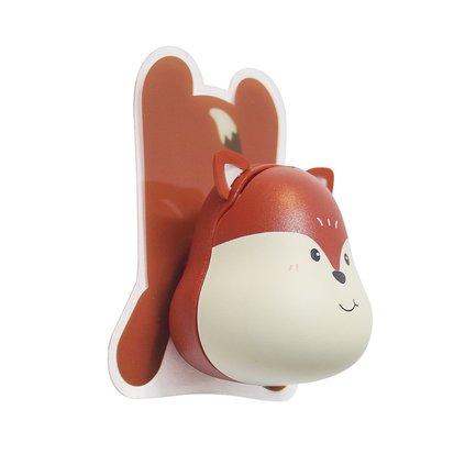 Держатель для зубной щётки Fox, 4.8х4.5х5.6 см, коричневый